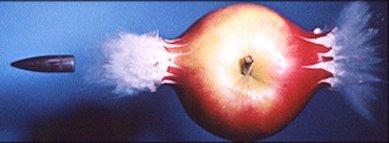 La manzana...