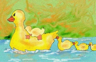<em>Mientras nadaban...</em>